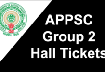 APPSC Group 2 Hall Tickets 2018
