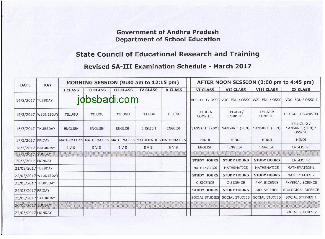 sa3-timetable
