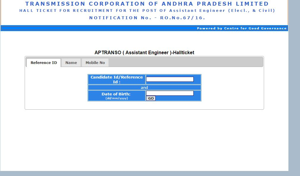 aptransco-admit card