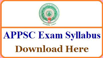 APPSC Degree Lecturer Syllabus