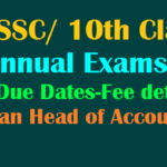 TS SSC Exam Fee Payment Due Dates March 2019
