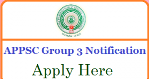 APPSC Group 3 Notification 2018-19