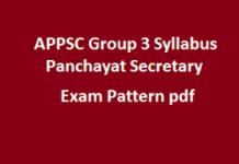 APPSC Group3 Panchayat Secretary Syllabus