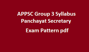 APPSC Group 3 Panchayat Secretary Syllabus