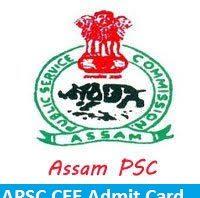 APSC CCE Admit Card 2018