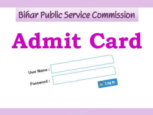 BPSC Admit Card 2018