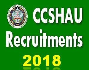 CCS HAU Recruitment 2018
