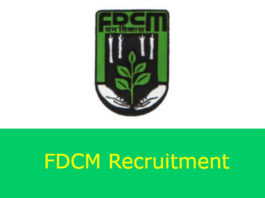 FDCM Recruitment 2018 For 66 Clerks Posts