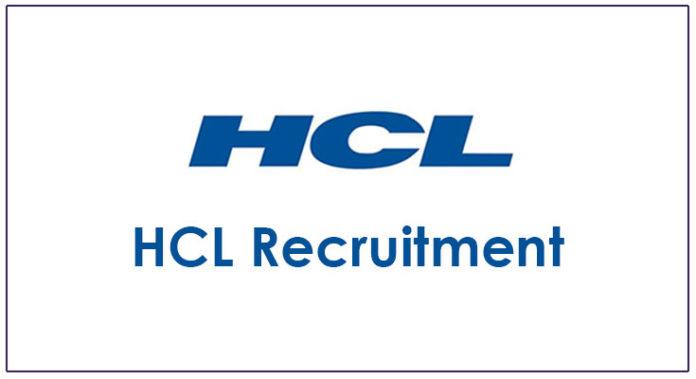 HCL Recruitment 2018