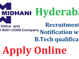 MIDHANI Hyderabad Recruitment 2018