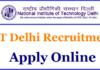 NIT Delhi Recruitment 2018