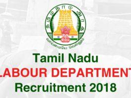 TN Labour Department Recruitment 2018