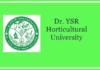 YSR Horticultural University Jobs 2018