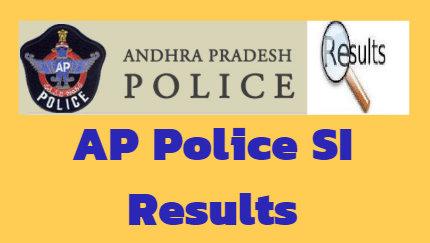AP Police SI Result 2018