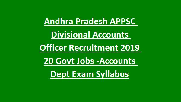 APPSC DAO Recruitment 2019