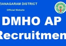 DMHO Vizianagaram Staff Nurse Recruitment 2018