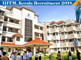 IIITM Kerala Recruitment 2018