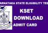 KSET Admit Card 2018