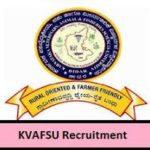 KVAFSU Recruitment 2019