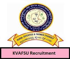 KVAFSU Recruitment 2019