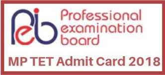 MP TET Admit Card 2018