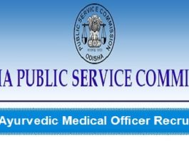 OPSC Ayurvedic Medical Officers Recruitment