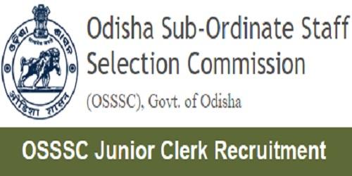 OSSSC Junior Clerk Recruitment