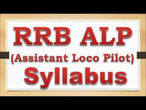 RRB ALP Stage 2 Syllabus 2018