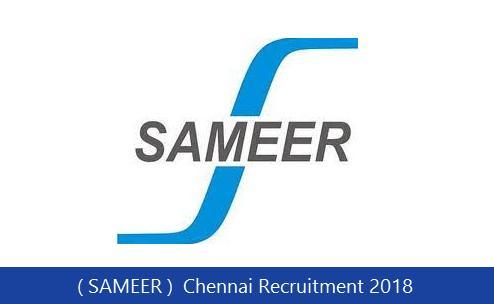SAMEER Recruitment 2018