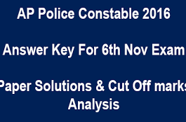 AP Police Constable Answer Key