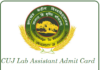 CUJ Lab Assistant Admit Card