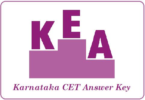 KCET Answer key
