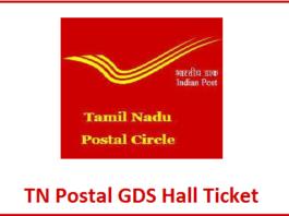 TN Postal Circle GDS Hall Ticekt