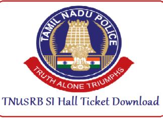 TNUSRB SI Hall Ticket