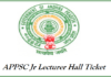 APPSC Junior Lecturer Hall Ticket