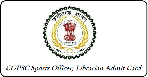 CGPSC Sports Officer Admit Card