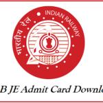 RRB JE Admit Card
