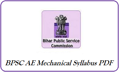 BPSC AE Mechanical Syllabus 2019 PDF - Check Asst Engineer