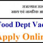 Food Department Rajasthan Recruitment